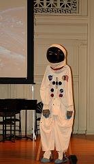 A spacesuit onstage at the Music Institute of Chicago's Blast Off concert - Sept. 2007