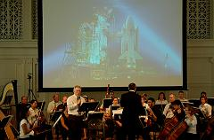 CSSS' Jim Plaxco narrating the Blast Off concert  performed by the Music Institute of Chicago Orchestra - Sept. 2007